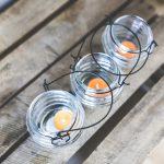 Świeczniki szklane na salę bankietową